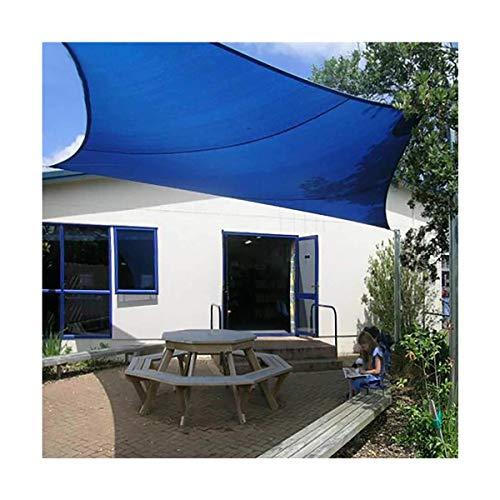 JJHH Sonnensegel für Terrassen Rechteckig Wasserdichter Sonnensegel Baldachin UV-Block Markise Dickes, abriebfestes 300D Oxford-Gewebe, Blau,3x5m(10x16.5ft)