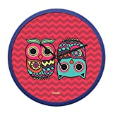 Chumbak Classic Owl Wall Clock - Red