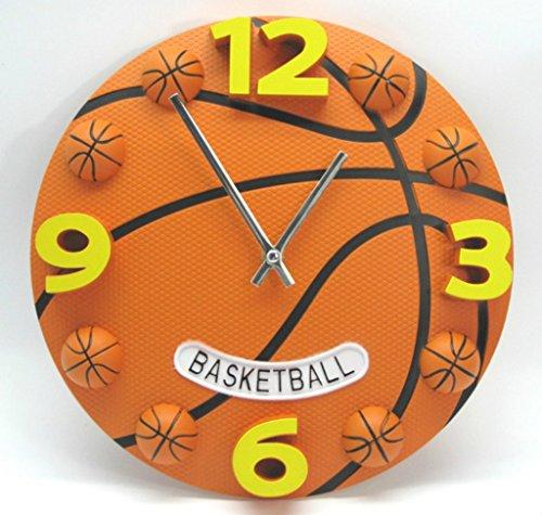XMM Moderne Basketball Wanduhr Stumm Uhr Orange Einzigartige Souvenir Wohnzimmer Schlafzimmer 12 Zoll Uhr
