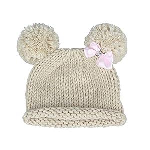 Gorro de croché para bebé con pompón, de la marca Bestknit