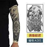 JinRui-Sport Manicotto del Tatuaggio Manicotti per Tatuaggi con Bracciale Tatuaggio Maschio, S, 201 Nero Buddha Elephant 2 Confezioni