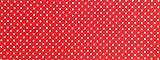 Gepunktetes Papier, Bastelpapier ca. 50 x 70 cm in verschiedenen Farben (rot mit weißen Punkten)