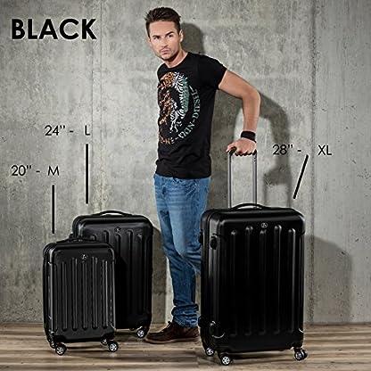 FERG-Koffer-Kofferset-Hartschale-3-teilig-Lyon-Trolley-Set-Handgepck-55-cm-L-XL-3er-Hartschalenkoffer-Roll-Koffer-4-Rollen-100-ABS