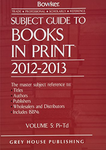 Subject Guide to Books in Print, 2012/13