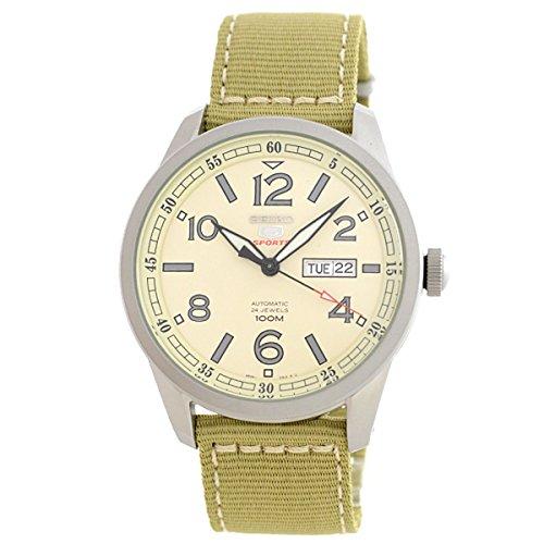 Seiko Herren-Armbanduhr XL Analog Automatik Nylon SRP635K1