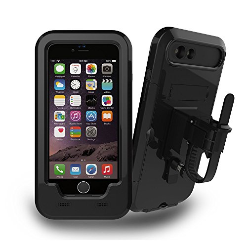 iPhone 6 / 6S Plus Bicycle Stand, JEMACHE Bicycle / Bicycle Handlebar Stand and Bike Waterproof Stand for iPhone 6 / 6S Plus (5,5 ') Black