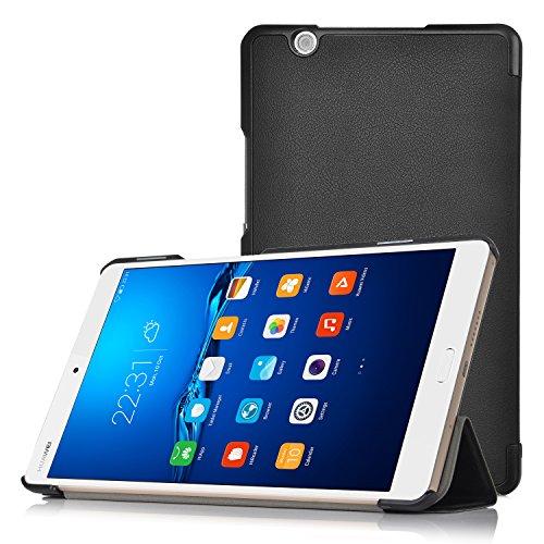 Huawei MediaPad M3 8.4 Hülle, IVSO Ultra Schlank Superleicht Ständer Slim Leder zubehör Schutzhülle für Huawei MediaPad M3 8.4 Tablet-PC perfekt geeignet, Schwarz