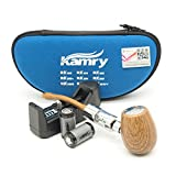 Kamry K1000 Klassische Art Elektronische Zigaretten Pfeife Starter Komplette Kit mit Koffer, 2PCS 900mAh Batterien Große Damp
