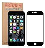 FUTLEX iPhone 8 iPhone 7 Displayschutzfolie [Vollständige Abdeckung] - Schwarz, Panzerglasfolie Gehärtetes Glas - 0.33mm dick - HD-Transparenz - 2.5D abgerundete Ecken - Japanisches Glas
