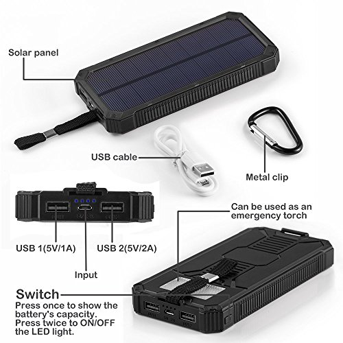 Pannello Solare Portatile Per Pc : Caricabatterie solare power bank pannello mah