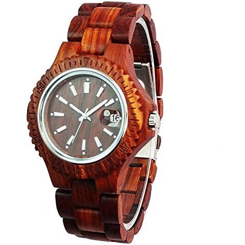 Elegante bambù orologio di legno importazione movimento al quarzo orologi in legno , 1 - Elegante Movimento Al Quarzo Guarda