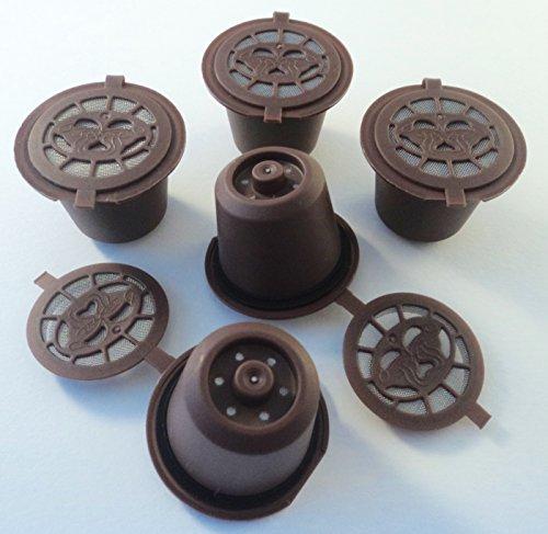 Coffee2u recargable reutilizable cápsulas de café para Nespresso - 5 de café Pods - (compatible con todas las cafeteras MONODOSIS Nespresso de después de octubre 2010)