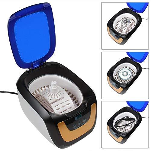 AFDK Ultraschallreiniger 600 ml Sonic Wave Ultraschall-Edelstahltank mit UV-Licht Schmuck- und Brillenreiniger (weiß/grau) -