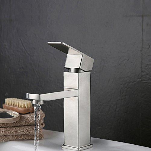 ergzi Edelstahl Wasserhahn Badezimmer Waschbecken Mixer Wasserhahn Garderobe Waschbecken Mixer Wasserhahn heißen und kalten Wasserhahn bt065