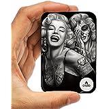 Bateria Portátil Mundo Más Pequeño 10000 mAh Externa Cargador Banco de Energía CHJGD Tarjeta de Crédito Ultracompacto para Apple iPhone Samsung, Galaxy, Pixel (Marilyn Monroe)