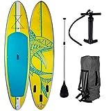 Die besten Paddle Boards für Anfänger - SUP Board Stand up Paddling Surfboard Shark Gelb Bewertungen