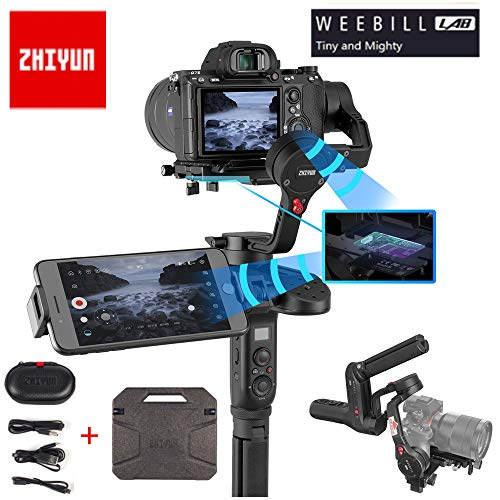 Zhiyun WEEBILL LAB 3-Axis Handheld Gimbal Stabilizer for Almost All Mirrorless Cameras,Smartphone,Max Support 3KG (Standard Package) (Speed Cam Line Cable)