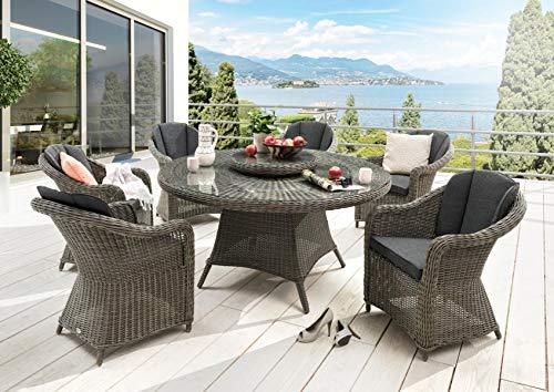 Destiny Sitzgruppe Luna & Malaga Vintage Grau Tisch Gartenmöbelset Garnitur