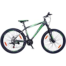 Hero Sprint Pro Trans 26T 21 Speed Dual Disc Brake Green and Black Bike/Bicycle (Colour May Differ)