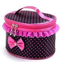 WINWINTOM Portable Travel Toiletry Makeup Cosmetic Bag Holder Handbag (Black)