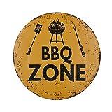 foviupet BBQ Zone plaques Tin Vintage Shabby Chic Plaque en métal Poster Mural Cafe Shop plaques en métal Home Bar Pub Murale Posters: