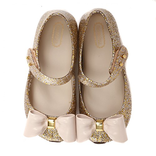 Melissa Shoes Mini Ultragirl Bow Glitter gold