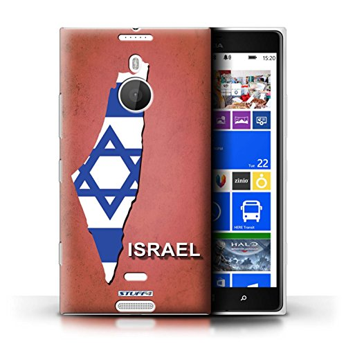 Kobalt® Imprimé Etui / Coque pour Nokia Lumia 1520 / Australie conception / Série Drapeau Pays Israël/Israélien