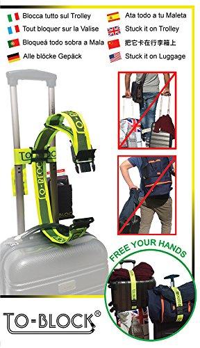 To-Block -  Correa de transporte para maletas, bloqueo de seguridad para equipaje de mano