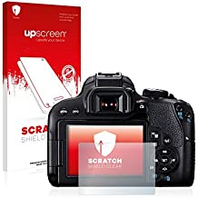 upscreen Scratch Shield Protector Pantalla Canon EOS 800D Película – Transparente, Anti-Huellas