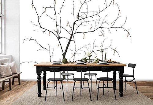 Mbwlkj 3D Schwarze Und Weiße Tapete Wllpaper Fresco Wandbilder Moderne Wohnzimmer Dekorieren Tv Hintergrund Wand-300Cmx210Cm