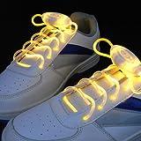 BestOfferBuy Blinkende LED Licht leuchten Schnürsenkel Schuh Farbe Gelb