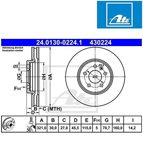 ATE 24013002241 Disque de frein