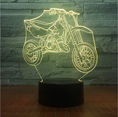 Führte Tischlampen Der Atmosphäre 3D Hauptdekoration-Schlafzimmer-Bunte Verkaufs-Schreibtisch-Lampe Der Nachtlicht-3D
