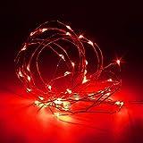 masunn 3m impermeabile LED NUOVA MINI LED Filo di rame Fata String Light vacanza Party Natale Rot
