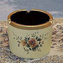 Cenicero cilíndrico europeo moda moderna cerámica simple Salón Dormitorio Home Entrada Ocean Cenicero, G