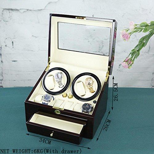 HETAO Kreative Persönlichkeit High Density Fibreboard Watch Winder Schütteln Watch Box Mechanische Uhr Box Automatik Uhr Motor Box -12 Layer High Gloss Paint - 5 Timing Prozeduren , storage chain - Zoll 6 Geschenk-boxen