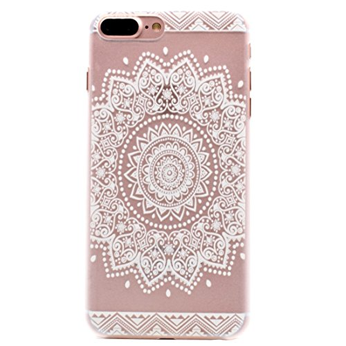 Mesh Flower Pattern Transparente PC Schutzhülle für iPhone 7 Plus by diebelleu ( SKU : Ip7p1456k ) Ip7p1456g