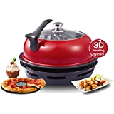 Wonderchef by Chef Sanjeev Kapoor Tandoor Duo Aluminium Gas Oven, 4-Pieces, Red and Black