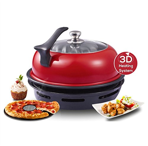 Wonderchef by Chef Sanjeev Kapoor Tandoor Duo Aluminium Gas Oven, 4-Pieces, Red and Black  available at amazon for Rs.3295
