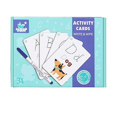Gobus los niños escriben y borran Las Tarjetas de práctica, el Cuaderno de Ejercicios, el lápiz, el Borrador, Pueden Repetir la Escritura (Letra ABC del abecedario)