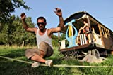 Gibbon Slacklines Classic Line mit Tree Pro, Gelb, 25 Meter (22,5m Band + 2,5m Ratchendband), Anfänger, Beginner und Einsteiger, inklusive Baumschutz, Ratschenschutz und Ratschenrücksicherung, 50 mm breit, perfekter Freizeitsport - 11