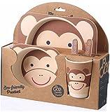 PPD 100% safe Animal Print Kids Dinner Set | Eco friendly 100% Natural Bamboo Fibre Set of 5 pieces.