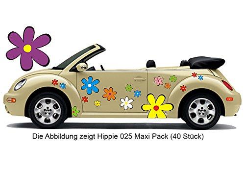 Hippie Blumen Aufkleber, Autoaufkleber Hippie 025 - bunt gemischt (26)