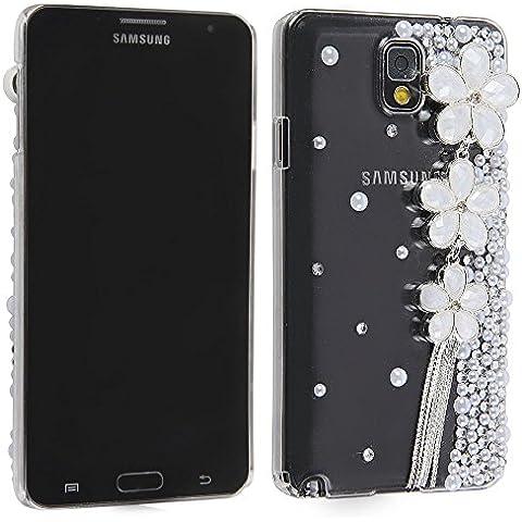 Fatta a mano custodia Gioiello 3D colorati Special Clover cristallo perline ciliegia per Huawei altri smartphone (Samsung Galaxy Note 3 III N9000) - Clover Cristallo