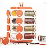 LMS Plastic Revolving Spice Rack, Multicolor