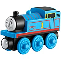 Mattel Wooden Railway Thomas - Trenes de juguete (Negro, Azul, Madera, 2 año(s))