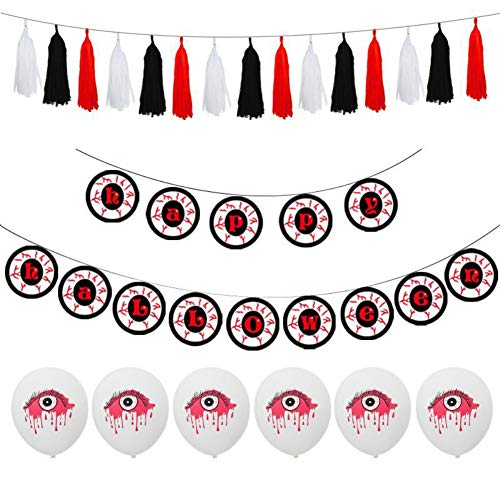 Wirbel hängen Dekorationen für Home Party Halloween, Dekor Luftballons Set Latex-Luftballons