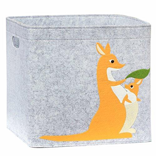 Aufbewahrungskorb Kinder Zimmer/Spielzeug Korb LuckySign-Care (Känguru)