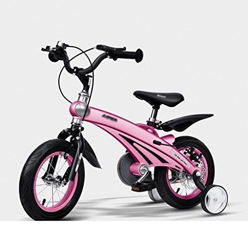 BaoKangShop Kinderfahrräder Kinderwagen Luft Magnesiumlegierung Kinder Fahrrad 2-6 Jahre Alt Männer und Frauen Baby Bikes 12,14,16 Zoll Kinder Dreiräder (Color : Pink, Size : 12 inches)