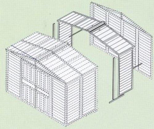 Erweiterungsset zu Tepro Duramax Metallgerätehaus DH 10 x 8 Haustyp 5/6/7
